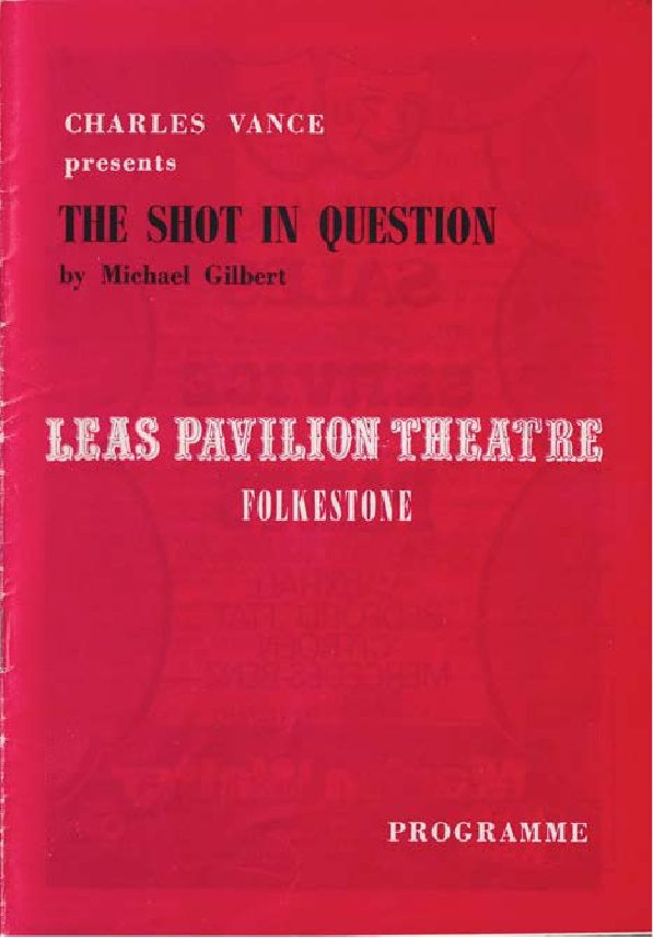 Programme for 'The Shot in Question'