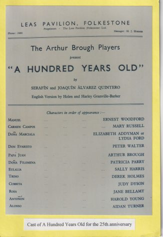 Cast list for 'A Hundred Years Old'