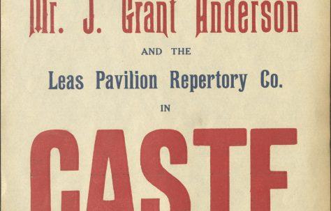 Theatre Poster for 'Caste'
