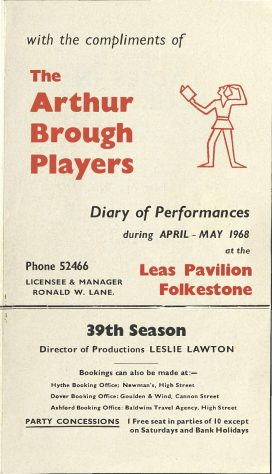 Diary of Performances April-May 1968